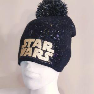Star Wars official sparkle splatter pompom toque